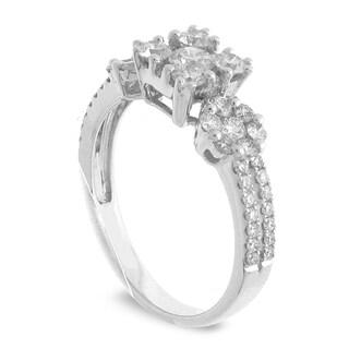 Azaro 18k White Gold 1ct TDW Square Diamond Cluster Fashion Band (G-H, SI1-SI2)