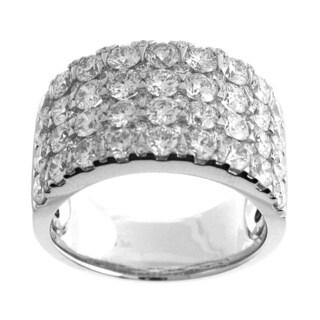 Azaro 18k White Gold 3 1/2ct TDW Four-Row Diamond Fashion Band