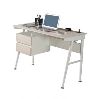 Modern Design Ash Wood Computer Desk with USB Drive Port and Storage