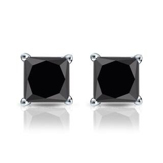 Auriya 14k Gold 1 1/2ct TDW 4-Prong Basket Push-Back Princess Cut Black Diamond Stud Earrings https://ak1.ostkcdn.com/images/products/12640185/P19431146.jpg?_ostk_perf_=percv&impolicy=medium