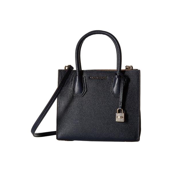 4f92a000581a5f Shop Michael Kors Mercer Admiral Medium Leather Crossbody Handbag ...
