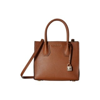 Michael Kors Mercer Brown Leather Medium Crossbody Handbag