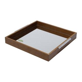 Mirrored Wood Art Tray