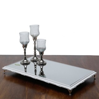 White Wooden Nickel-footed Serving Tray