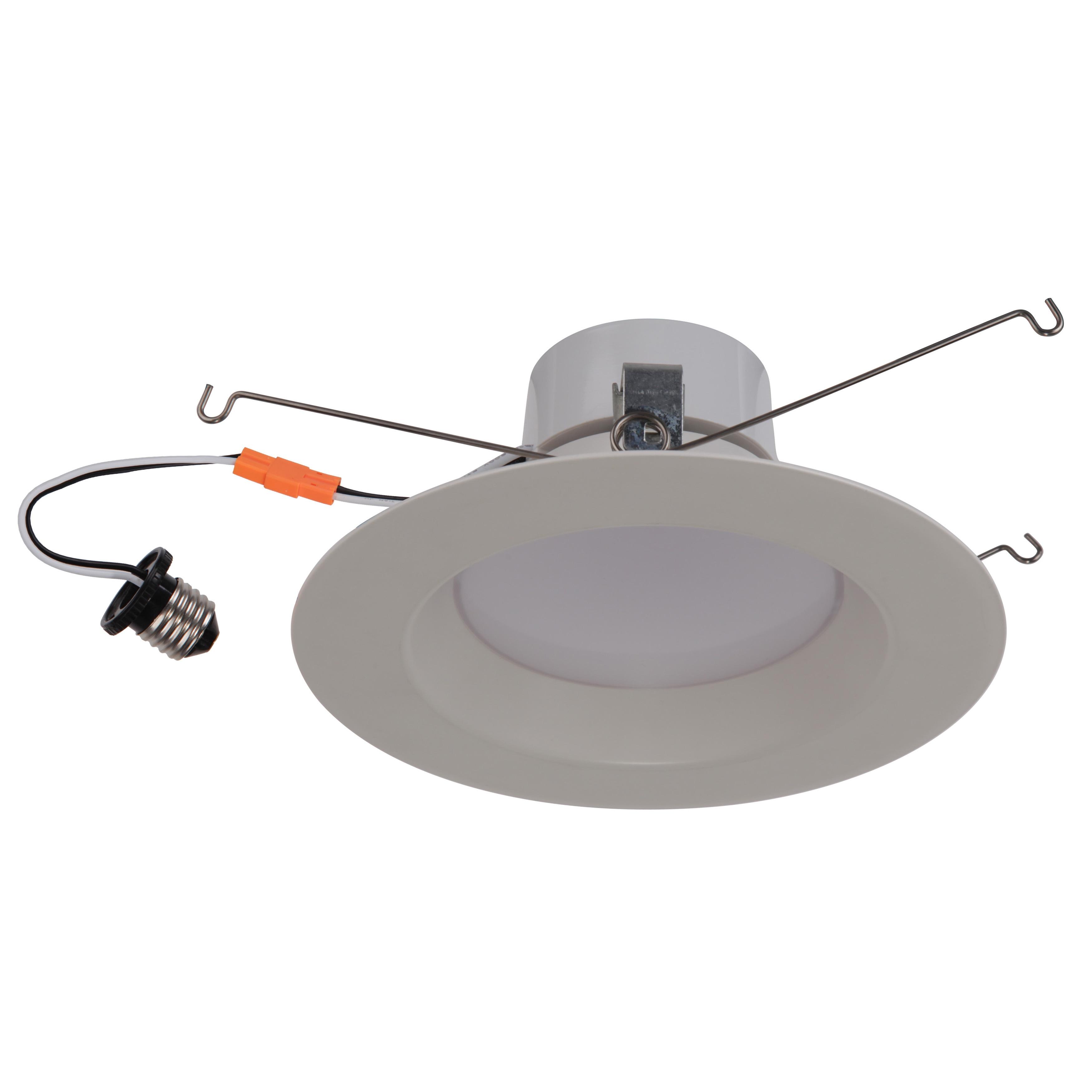 Goodlite White Acrylic Round Retrofit 18-watt LED Dimmabl...