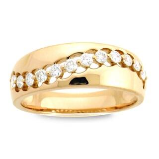 Azaro 18k Rose Gold 1/3ct TDW Diamond Fashion Band