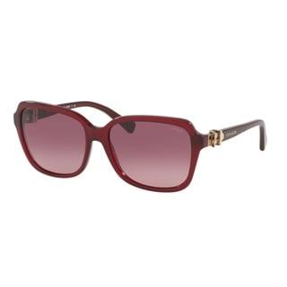 Coach HC8179 L1598 5393G2 Burgundy Womens Plastic Square Sunglasses