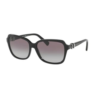Coach HC8179 L1598 500211 Black Womens Plastic Square Sunglasses