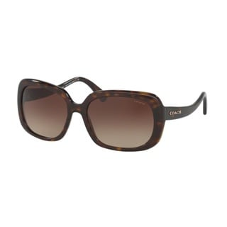 Coach HC8178F L1592 512013 Dark Tortoise Womens Plastic Rectangle Sunglasses
