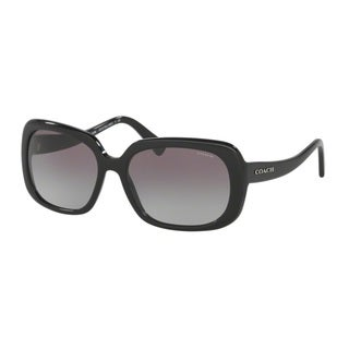 Coach HC8178F L1592 500211 Black Womens Plastic Rectangle Sunglasses