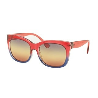 Coach HC8173 53913J Red Blue Crystal Gradient Womens Plastic Square Sunglasses