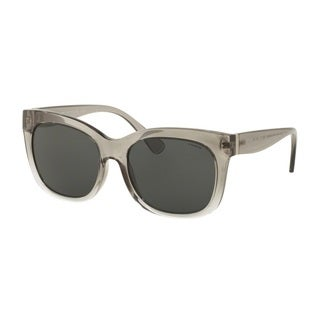 Coach HC8173 537387 Crystal Grey Clear Gradient Womens Plastic Square Sunglasses