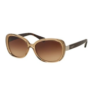 Coach HC8172 L153 536913 Crys Lt Brown/Dark Tortoise Womens Plastic Rectangle Sunglasses
