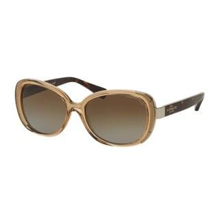 Coach HC8172 L153 5369T5 Crys Lt Brown/Dark Tortoise Womens Plastic Rectangle Sunglasses