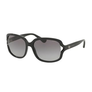 Coach HC8169 L149 500211 Black Womens Plastic Square Sunglasses