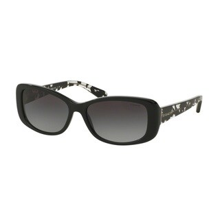 Coach HC8168 L156 534811 Black/Black Crystal Mosaic Womens Plastic Rectangle Sunglasses
