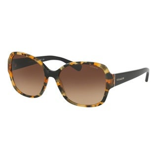 Coach HC8166F 535913 Honey Mosaic/Black Womens Plastic Butterfly Sunglasses