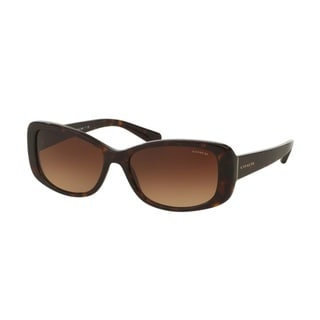 Coach HC8168F 512013 Dark Tortoise Womens Plastic Rectangle Sunglasses