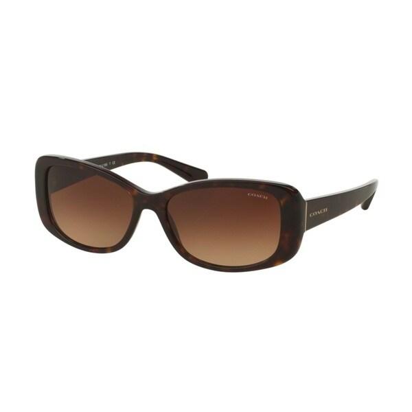 Coach HC8168 L156 512013 Dark Tortoise Womens Plastic Rectangle Sunglasses. Opens flyout.
