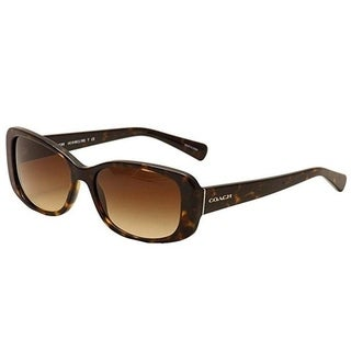 Coach HC8168 L156 512013 Dark Tortoise Womens Plastic Rectangle Sunglasses