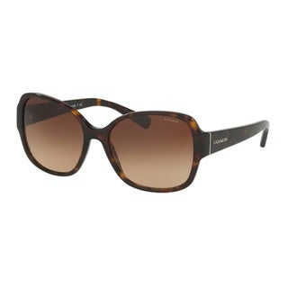 Coach HC8166 L154 512013 Dark Tortoise Womens Plastic Butterfly Sunglasses
