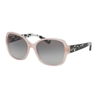 Coach HC8166F 535011 Blush/Black Crystal Mosaic Womens Plastic Butterfly Sunglasses
