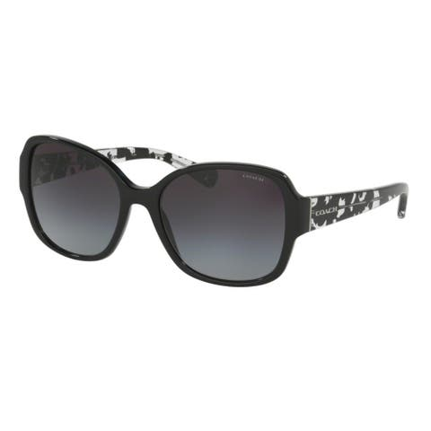 Coach HC8166 L154 534811 Black/Black Crystal Mosaic Womens Plastic Butterfly Sunglasses