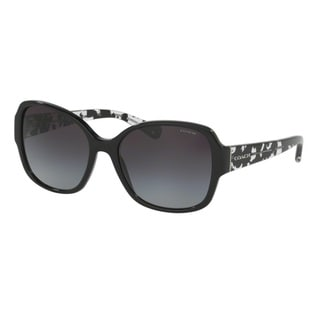 Link to Coach HC8166 L154 534811 Black/Black Crystal Mosaic Womens Plastic Butterfly Sunglasses Similar Items in Women's Sunglasses