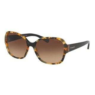 Coach HC8166 L154 535913 Honey Mosaic/Black Womens Plastic Butterfly Sunglasses