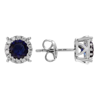 Journee Collection Sterling Silver Cubic Zirconia Halo Stud Earrings