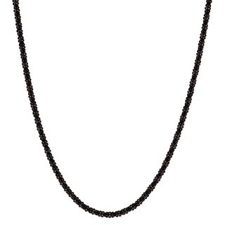 Journee Collection Sterling Silver Black Rhodium-plated 18 Inch Necklace