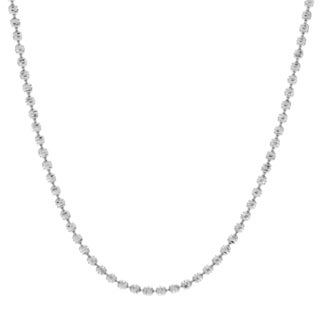 Journee Collection Sterling Silver 18 Inch Textured Ball Chain