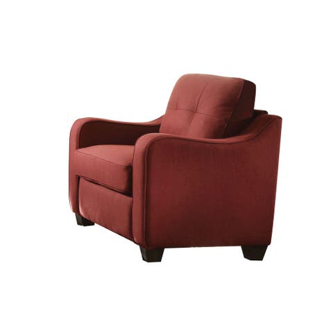 Copper Grove Sharon Red Linen Chair