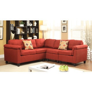 Cleavon Sectional Sofa with 2 Pillows, Linen