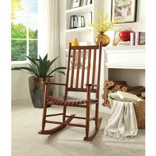 laik whitebrown rubberwood rocking chair