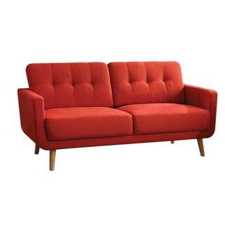 Red Linen Sisilla Sofa