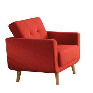 Sisilla Mid-century Red Linen Chair