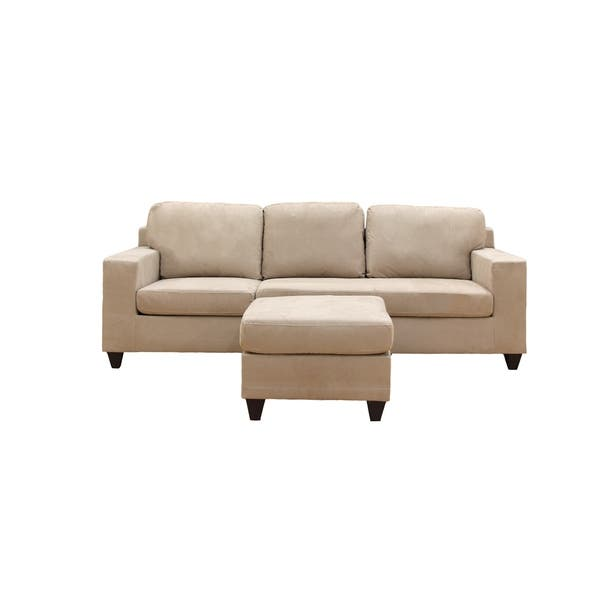 Wondrous Shop Vogue Microfiber Sectional Sofa Free Shipping Today Gmtry Best Dining Table And Chair Ideas Images Gmtryco