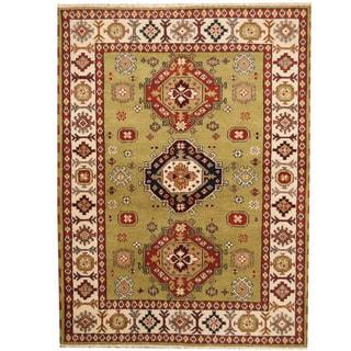 Herat Oriental Indo Hand-knotted Tribal Kazak Wool Rug (5'9 x 7'8)