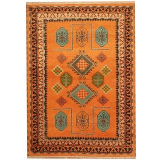 Herat Oriental Indo Hand-knotted Tribal Kazak Wool Rug (4'8 x 6'6)