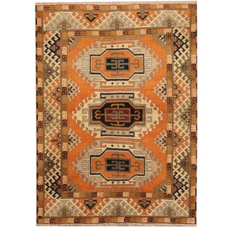 Herat Oriental Indo Hand-knotted Tribal Kazak Wool Rug (4'9 x 6'5)