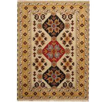 Herat Oriental Indo Hand-knotted Tribal Kazak Wool Rug (4'9 x 6'6)