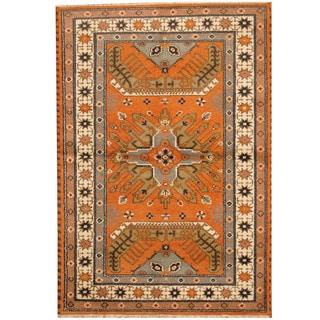 Herat Oriental Indo Hand-knotted Tribal Kazak Wool Rug (4'9 x 6'10)