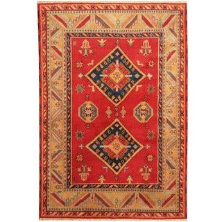 Herat Oriental Indo Hand-knotted Tribal Kazak Wool Rug (6'7 x 9'7)