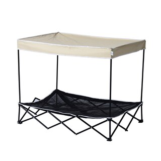 Pawhut 40 inch Elevated Mesh Pet Cot Bed with Canopy