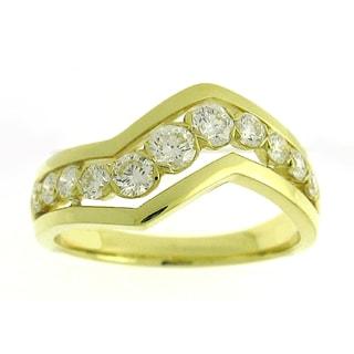 Azaro 18k Yellow Gold 5/8ct TDW Diamond Fashion Band