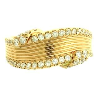 Azaro 18k Rose Gold 1/2ct TDW Curved Diamond Fashion Band