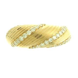 Azaro 18k Rose Gold 5/8ct TDW Diamond Fashion Band