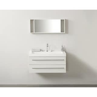 Barcelona Wall Mount 2 Drawer Double Bathroom Vanity with Mirror