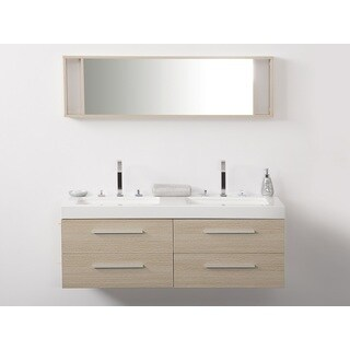 Velago Beige Double Sink Bathroom Vanity Set